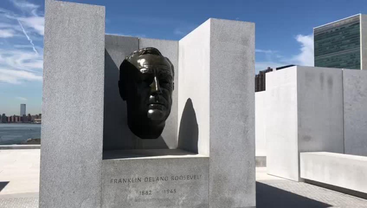 Estátua de Franklin D. Roosevelt imortaliza um dos homens mais importantes do século XX