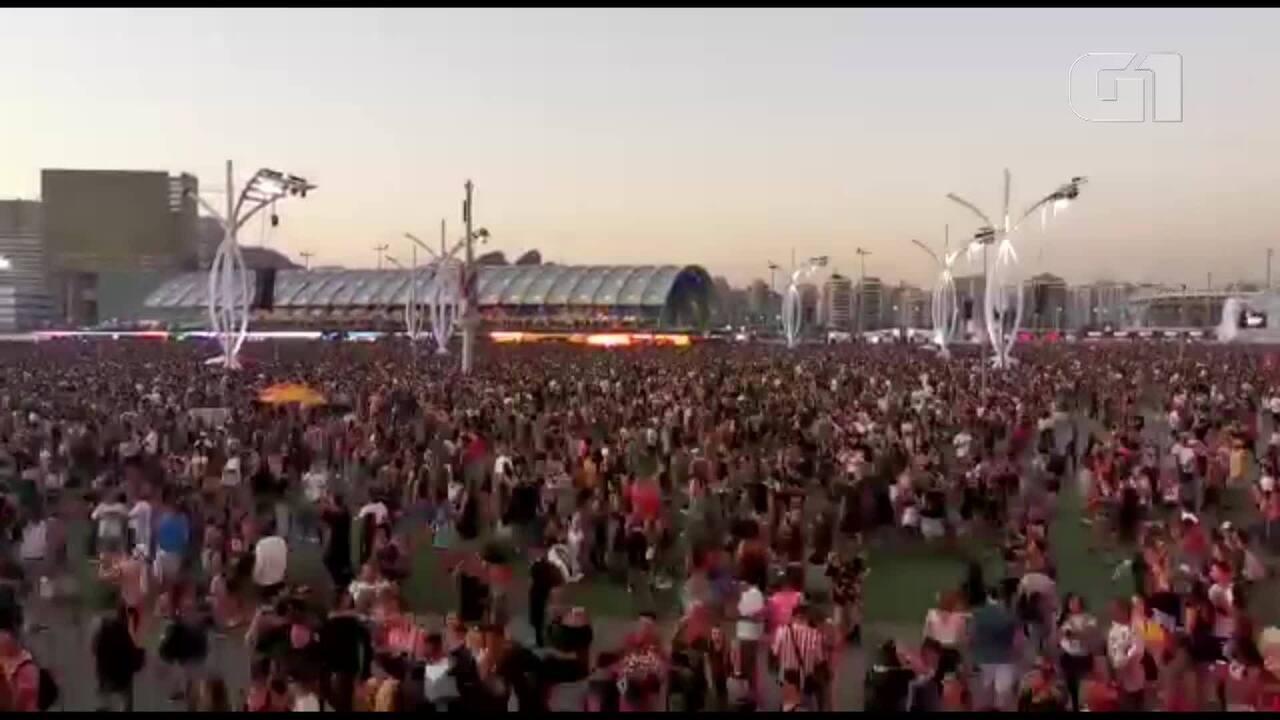 Público corre para ver Anitta no Palco Mundo do Rock in Rio
