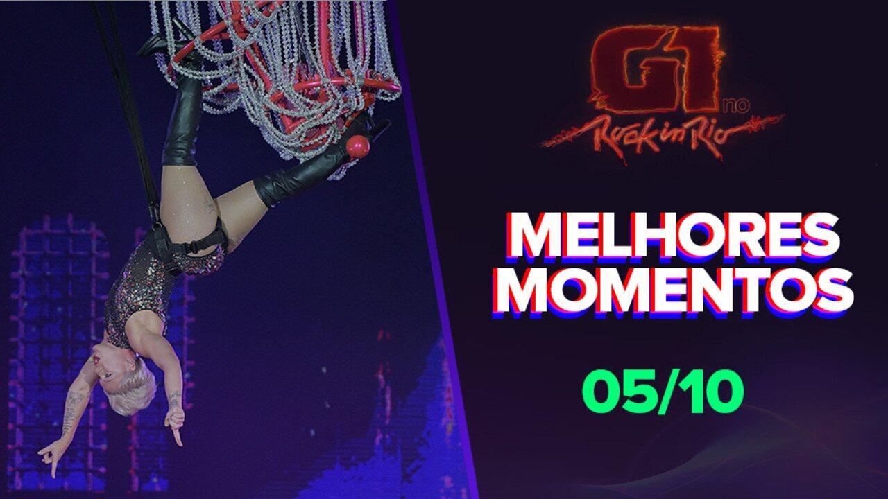 Veja os melhores momentos deste sábado (05) no Rock in Rio