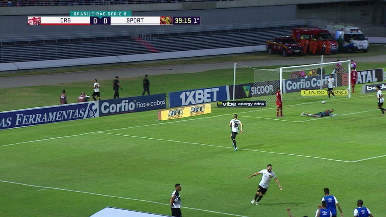 Melhores momentos de CRB 1 x 1 Sport pela 27ª rodada do Campeonato Brasileiro Série B