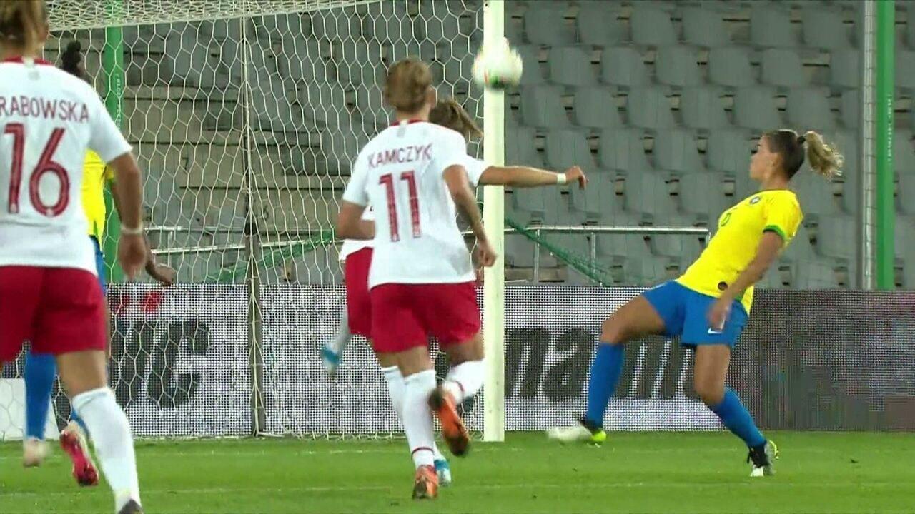 Melhores momentos: Polônia 1 x 3 Brasil em Amistoso Internacional de Futebol Feminino