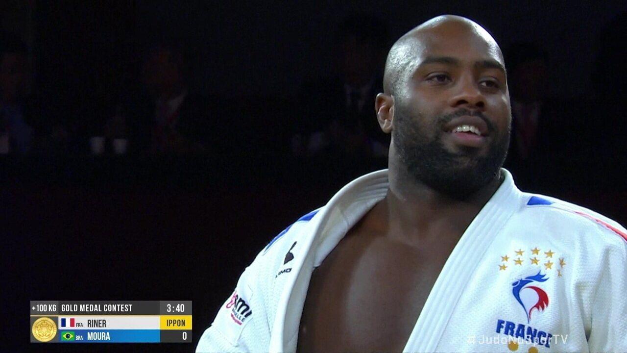 David Moura perde para Teddy Riner na disputa do ouro na categoria +100kg