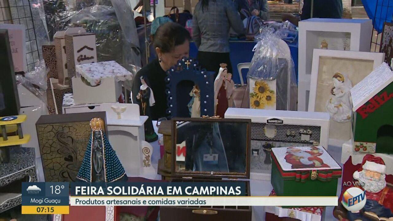 Feira Solidária da Catedral traz produtos artesanais e comidas variadas a Campinas