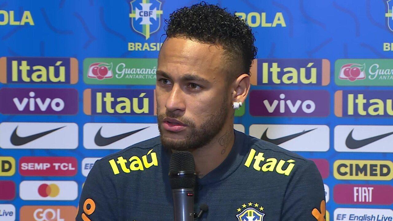 """Neymar fala da marca de 100 jogos: """"O saldo é positivo, mas na vida de um atleta nem sempre é só vitória"""""""