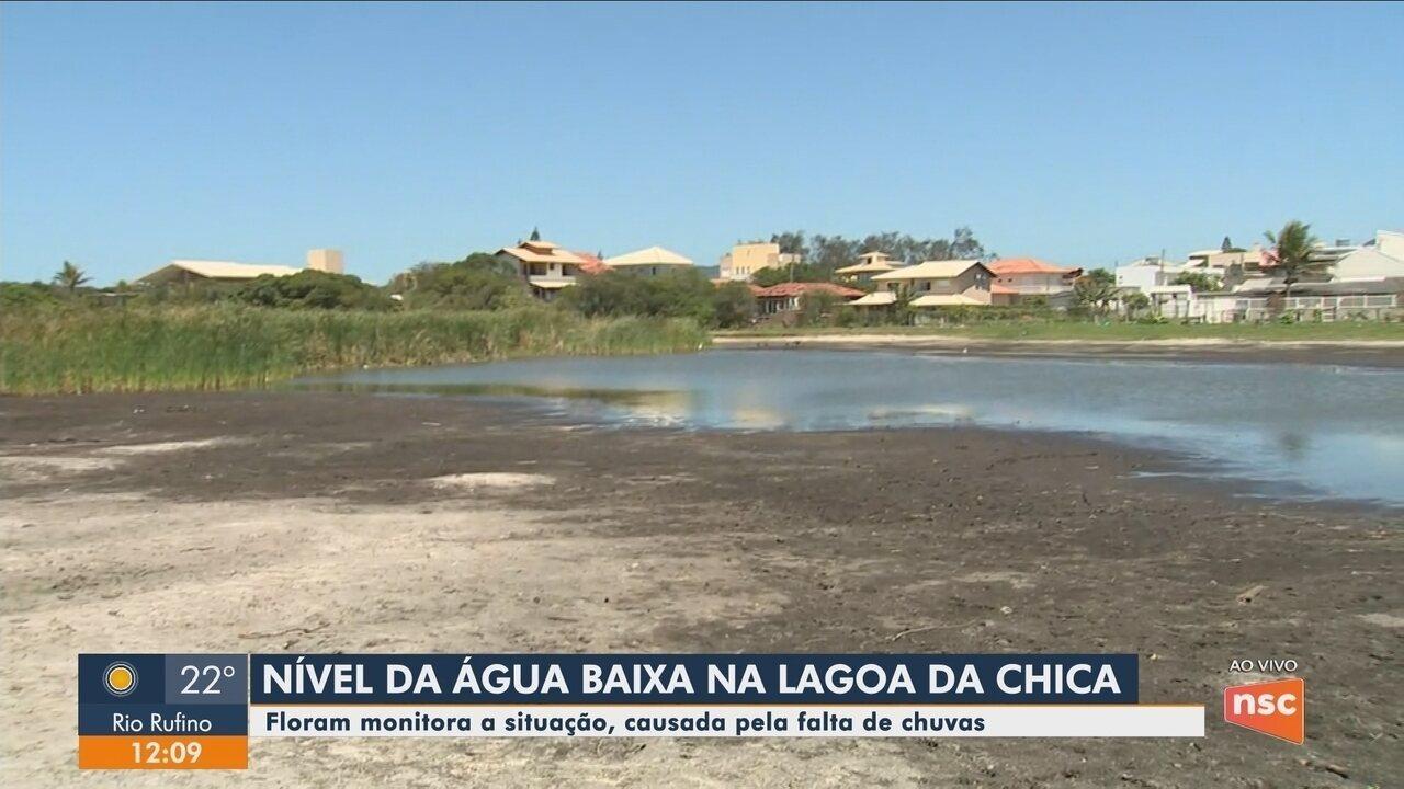 Estiagem atinge lagoas da Grande Florianópolis