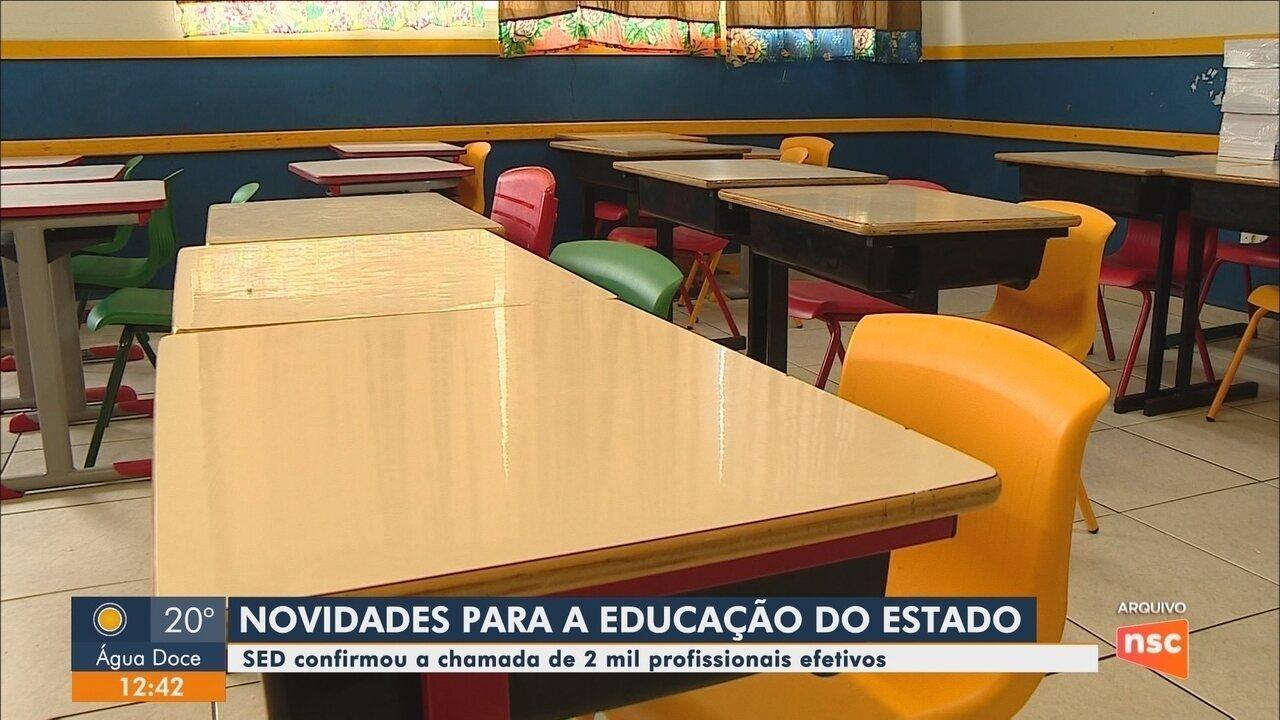 Secretaria de Estado da Educação confirma chamada de 2 mil profissionais efetivos em SC