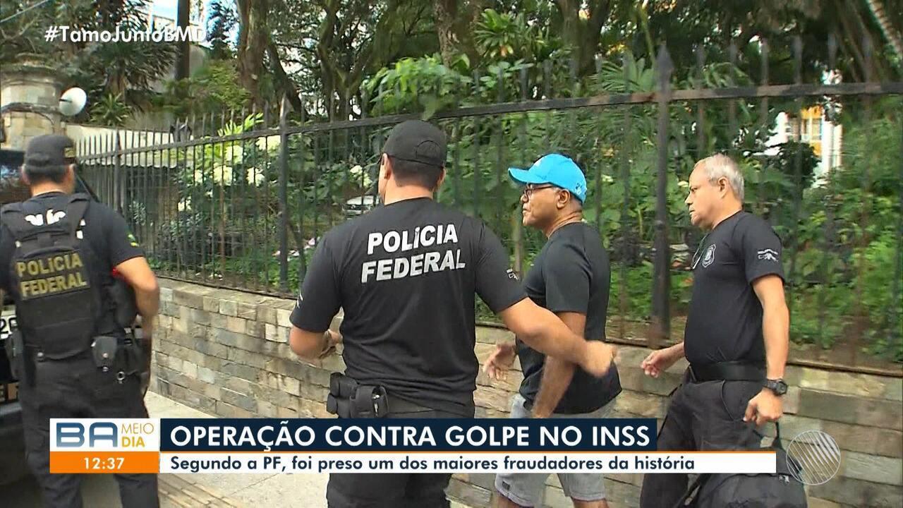 Operação da PF prende um dos maiores fraudadores da previdência social, em Salvador