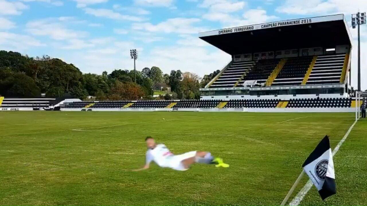 Paraná Clube zoa volante do Operário-PR após drible no lance do gol