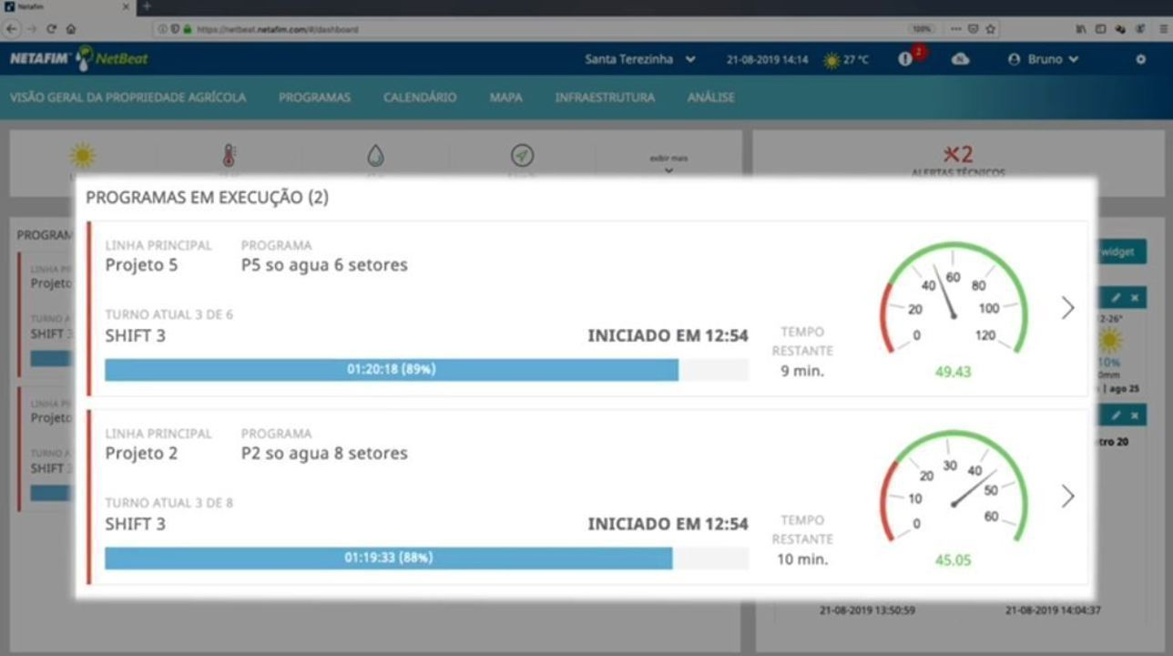 Vídeo sobre o dashboard do NetBeat da Netafim/Amanco.