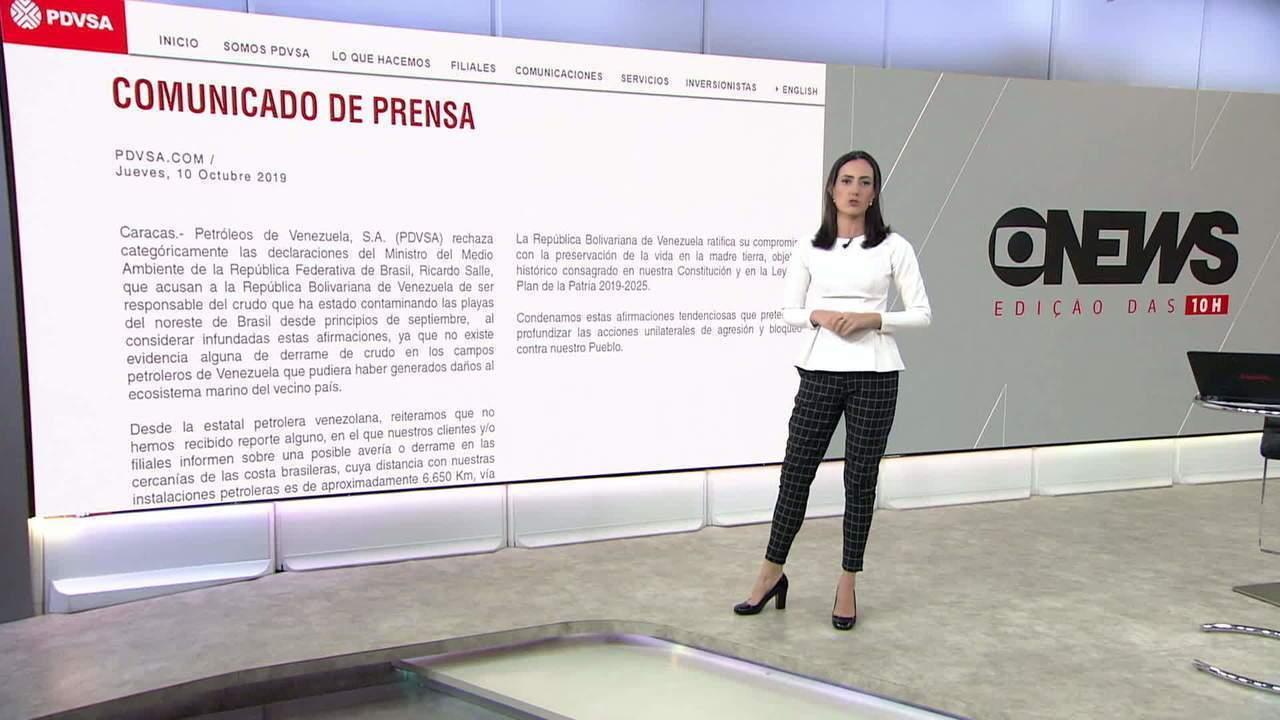 Venezuela rebate Salles e nega ter relação com óleo que atingiu a costa brasileira
