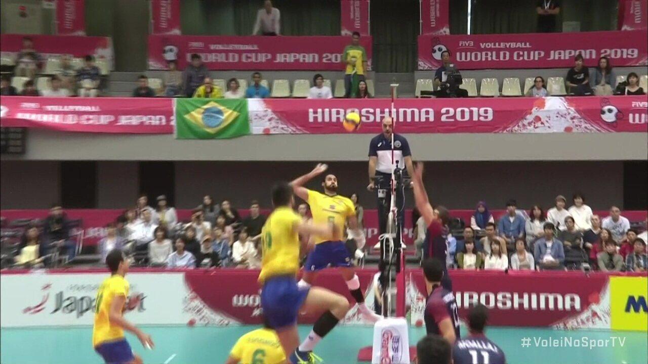 Melhores momentos de Tunísia 0x3 Brasil pela Copa do Mundo de Vôlei Masculino