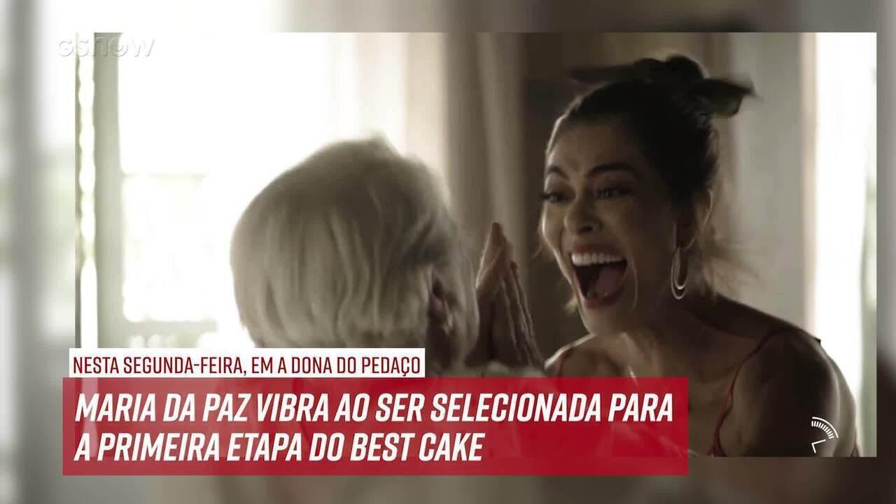 Resumo do dia - 14/10 – Maria da Paz vibra ao ser selecionada para o Best Cake