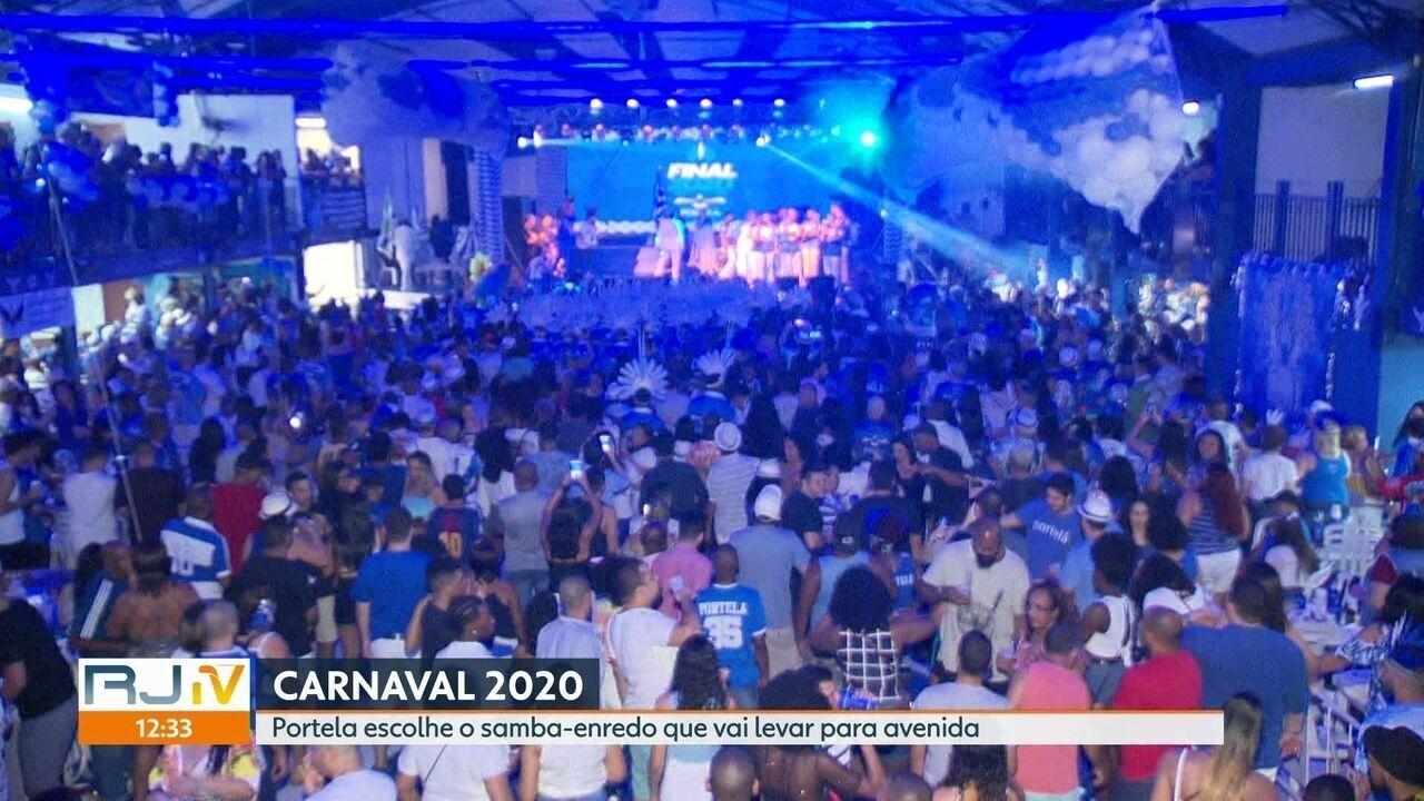 Portela define o samba do carnaval 2020