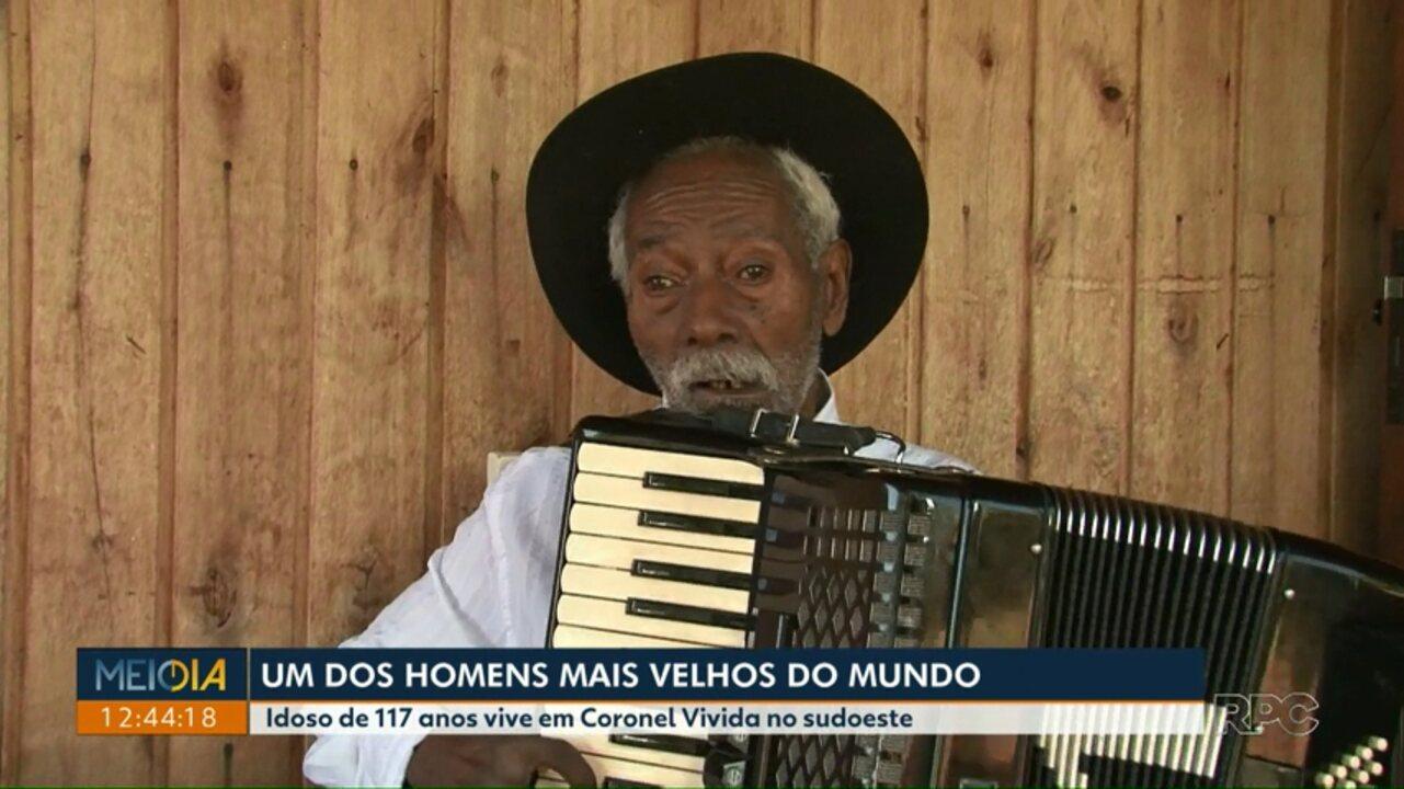 Idoso de 117 anos, que vive em Coronel Vivida, pode ser o homem mais velho do mundo