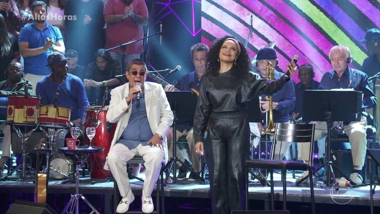 """Zeca Pagodinho e Teresa Cristina cantam """"O Sol Nascerá (A Sorrir)"""""""