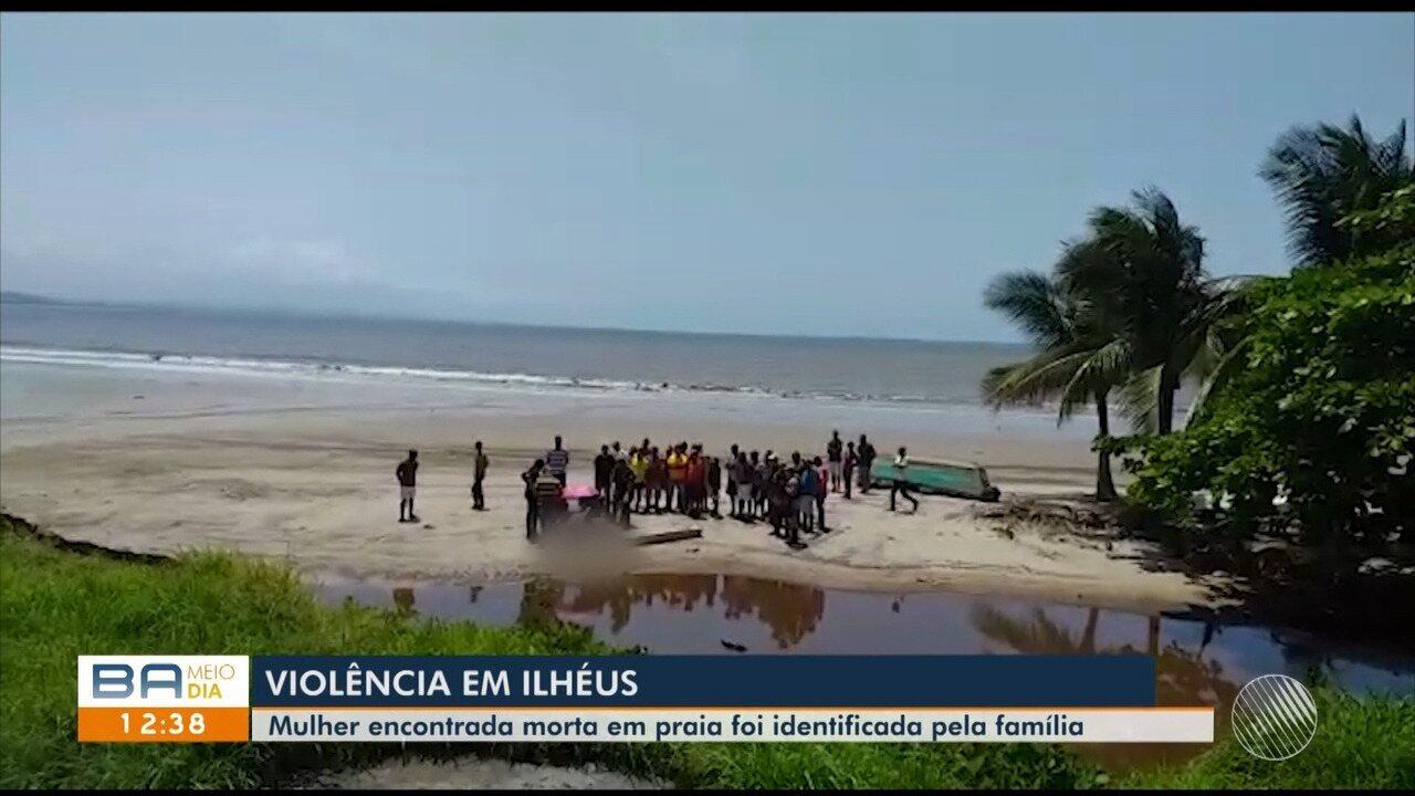 Mulher encontrada morta em praia tem corpo reconhecido pela família em Ilhéus