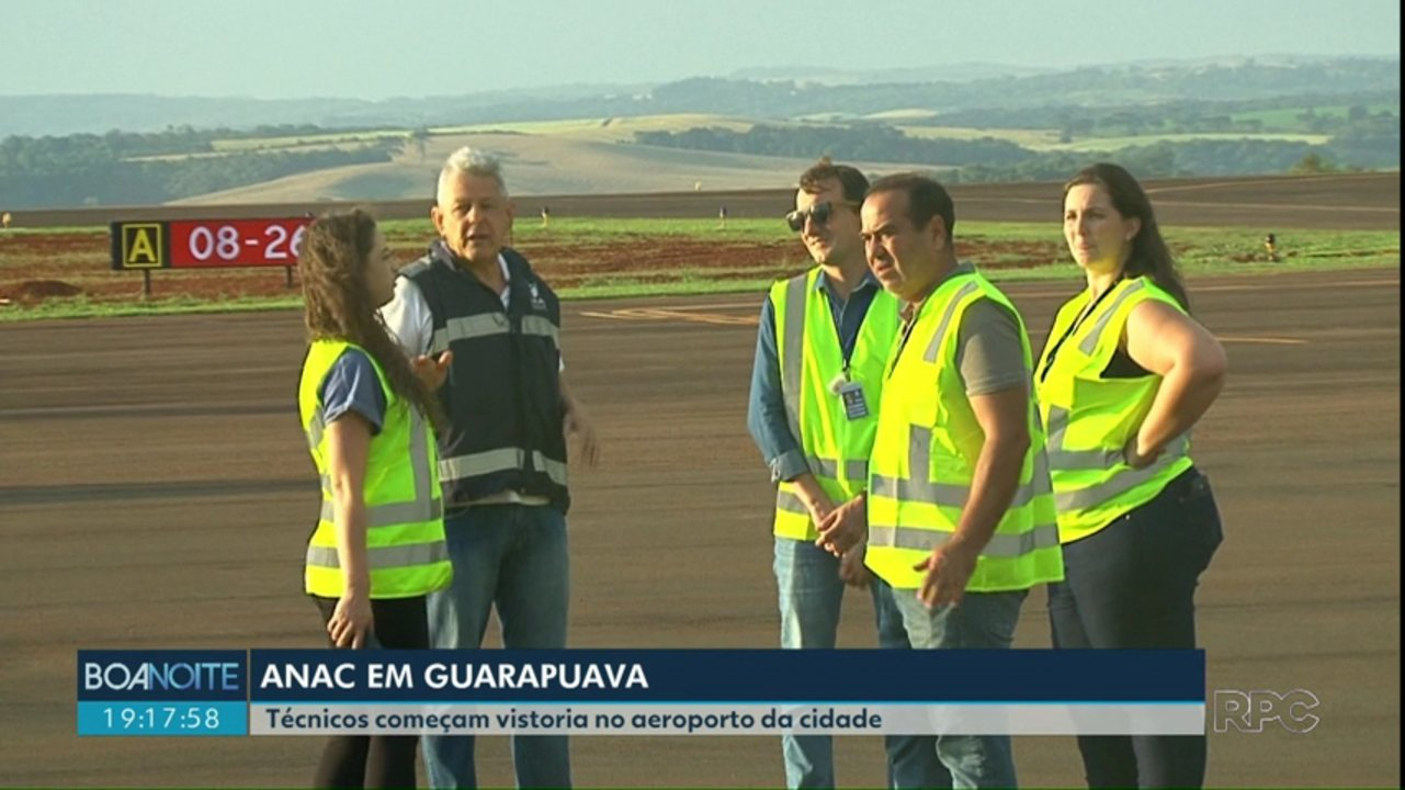 Técnicos da ANAC vistoriam aeroporto de Guarapuava