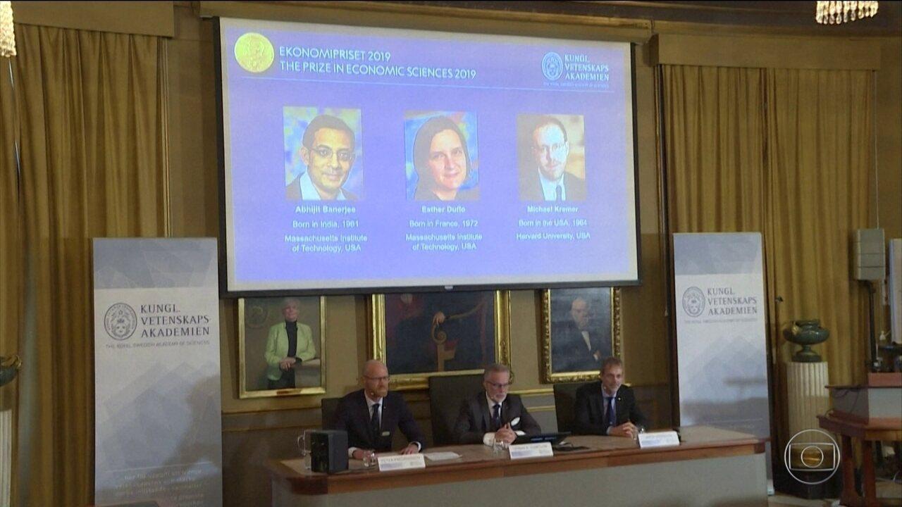 Indiano, americano e francesa vencem o Nobel de Economia
