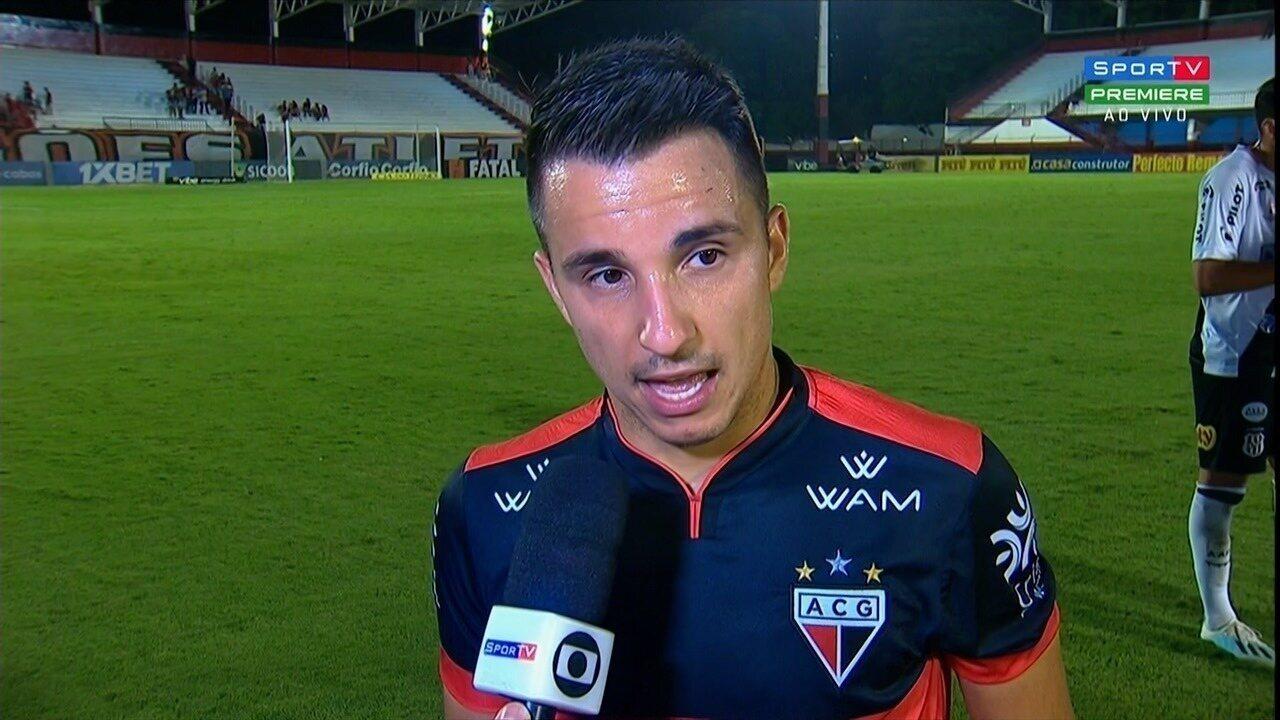 Matheuzinho lamenta empate em casa e promete reação do Atlético-GO