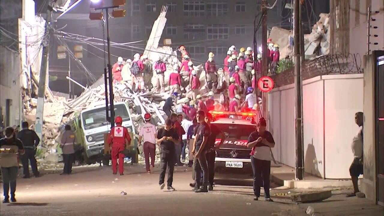 Bombeiros confirmam 1 morte em desabamento em Fortaleza