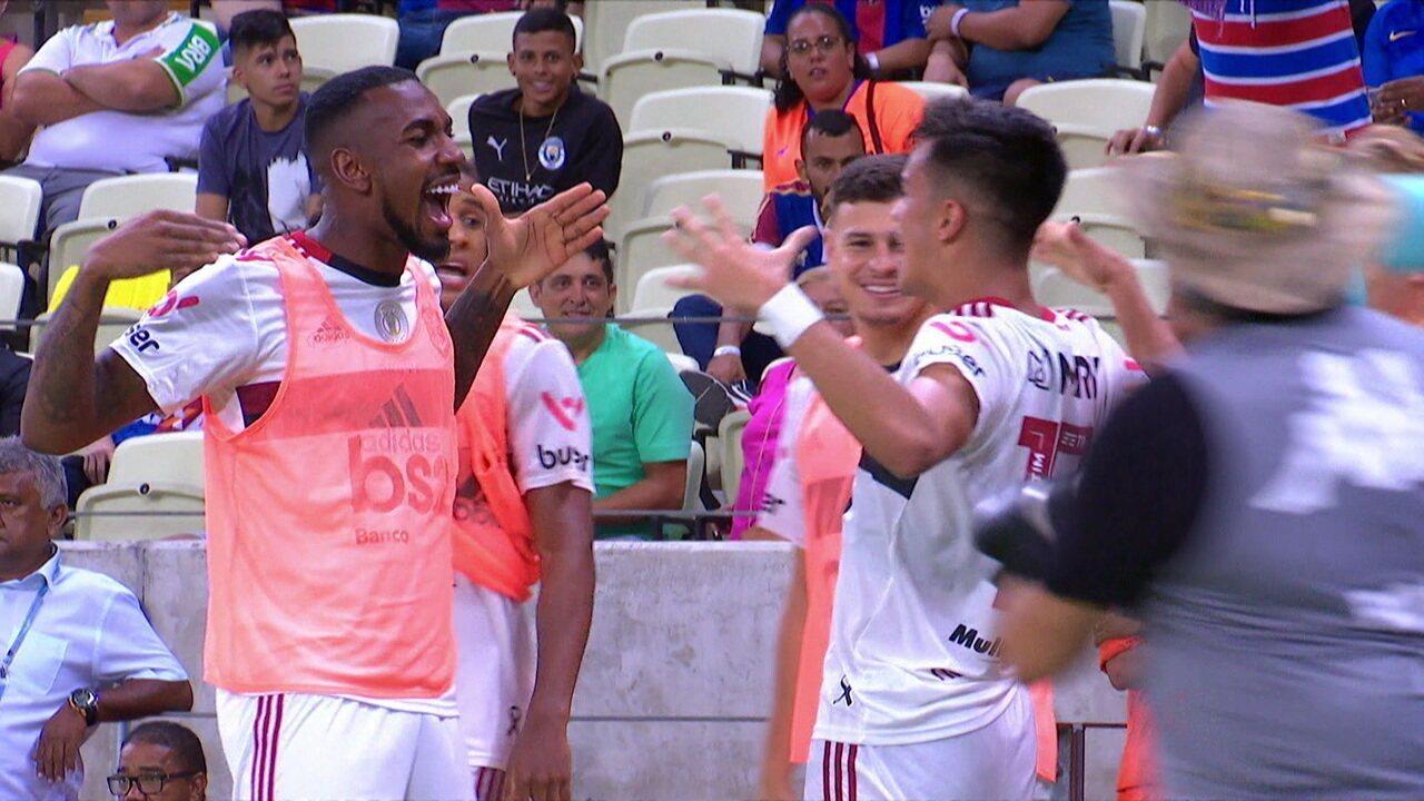 Os gols de Fortaleza 1 x 2 Flamengo pela 26ª rodada do Campeonato Brasileiro 2019