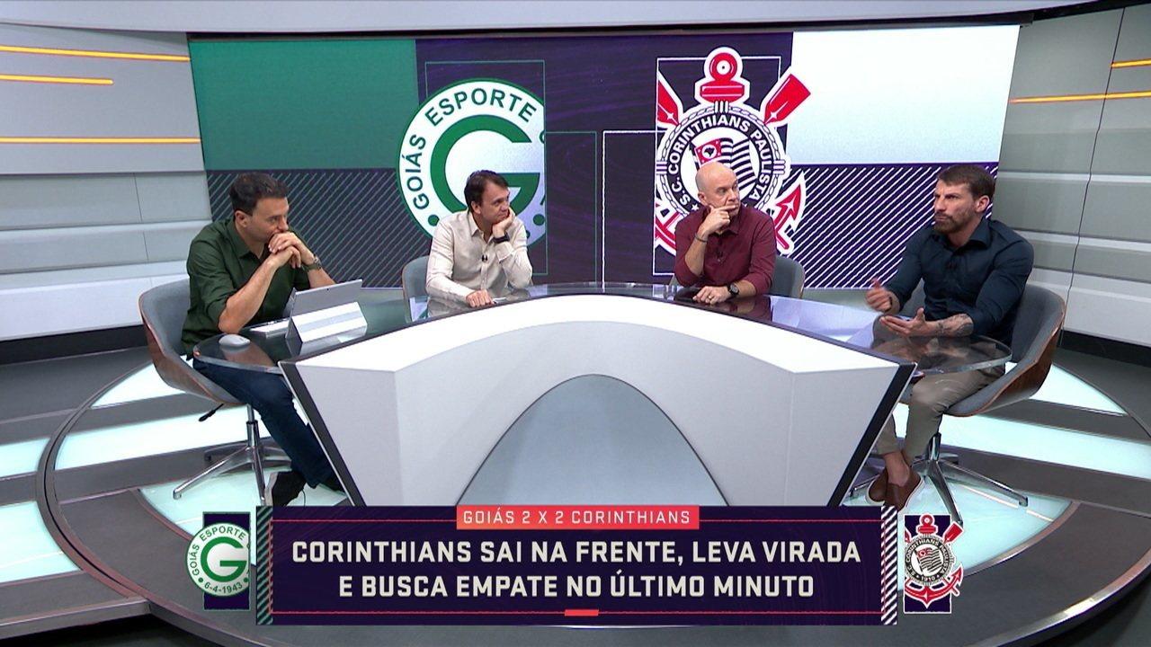 Comentaristas analisam o jogo do Corinthians contra o Goiás pela 26ª rodada