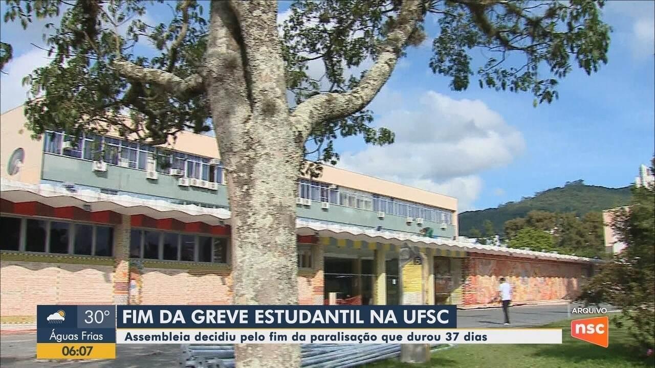 Assembleia decide encerrar greve dos estudantes na UFSC