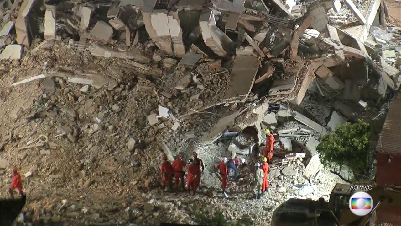 Sobe para sete o número de mortos no desabamento do prédio em Fortaleza