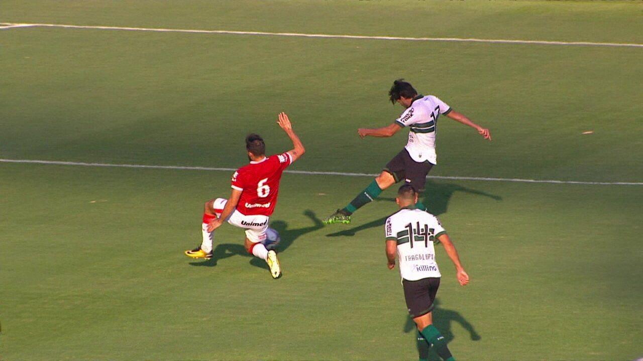 Melhores momentos: Vila Nova 2 x 2 Coritiba pela Série B do Campeonato Brasileiro