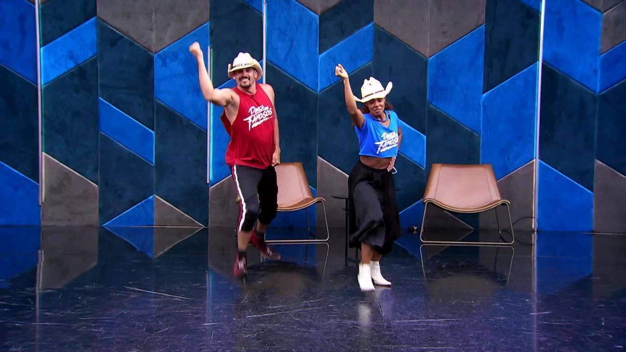 Veja o ensaio de Dandara Mariana e Daniel Norton no baladão sertanejo do 'Dança'