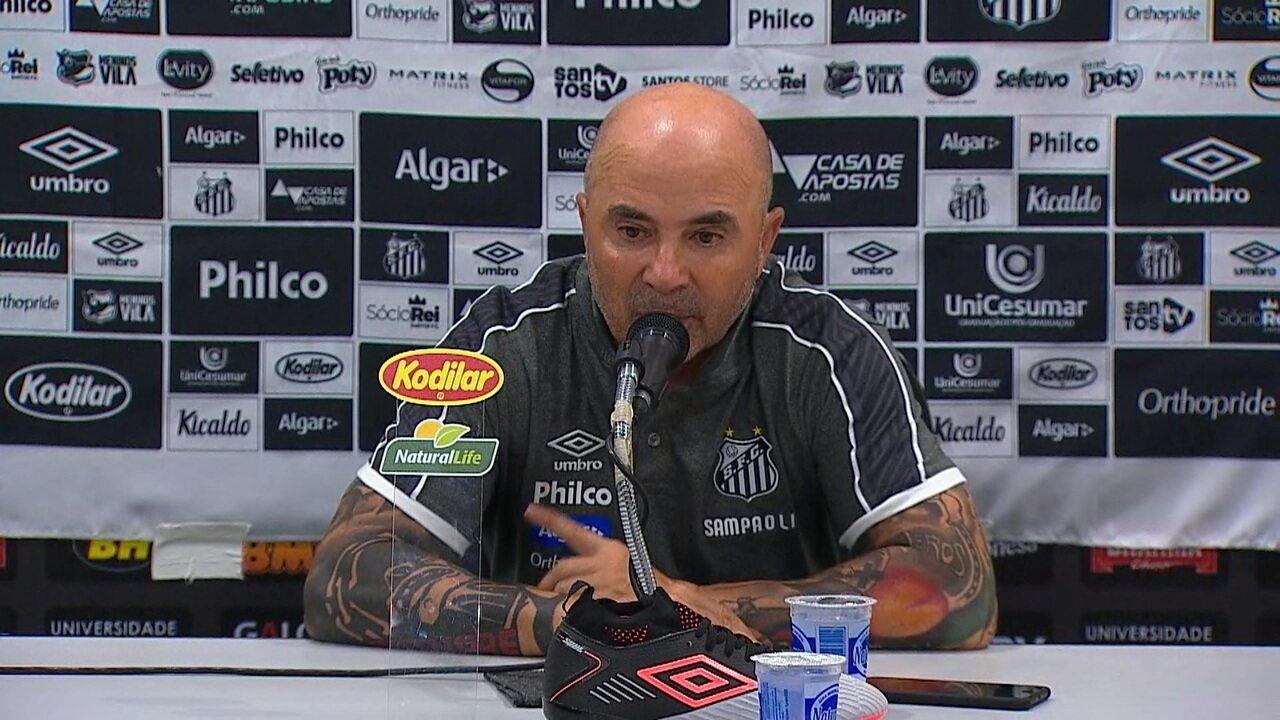 Coletiva de imprensa do técnico Jorge Sampaoli