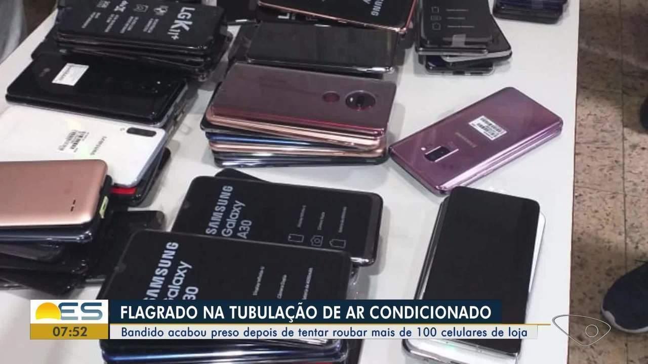 Criminoso é preso depois de tentar roubar mais de 100 celulares de loja nO ESo