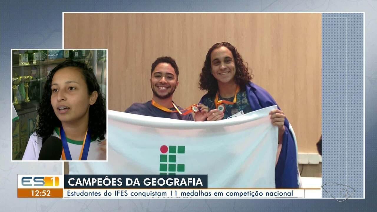 Estudantes do Ifes conquistam 11 medalhas em competição nacional de Geografia