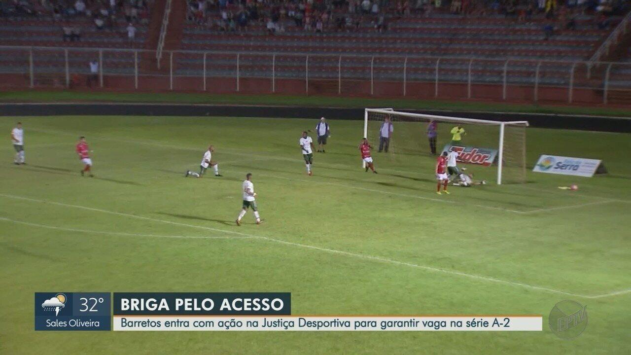 Barretos entra com ação na Justiça Desportiva para garantir vaga na Série A-2