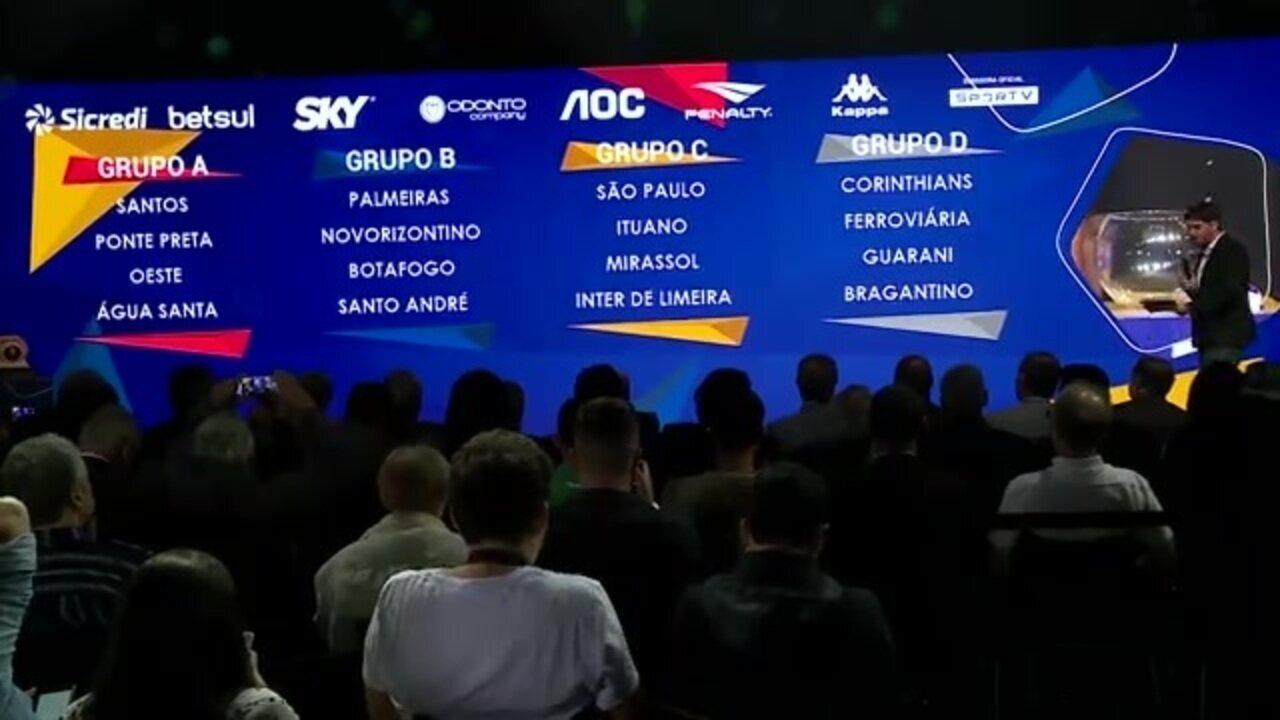 Veja como ficaram os grupos do Paulistão 2020