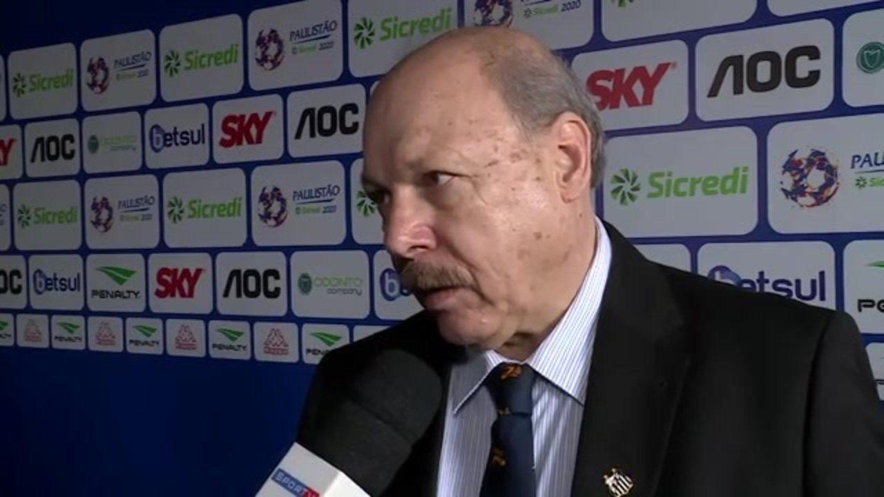 José Carlos Peres fala sobre sorteio do Paulistão e futuro do Santos