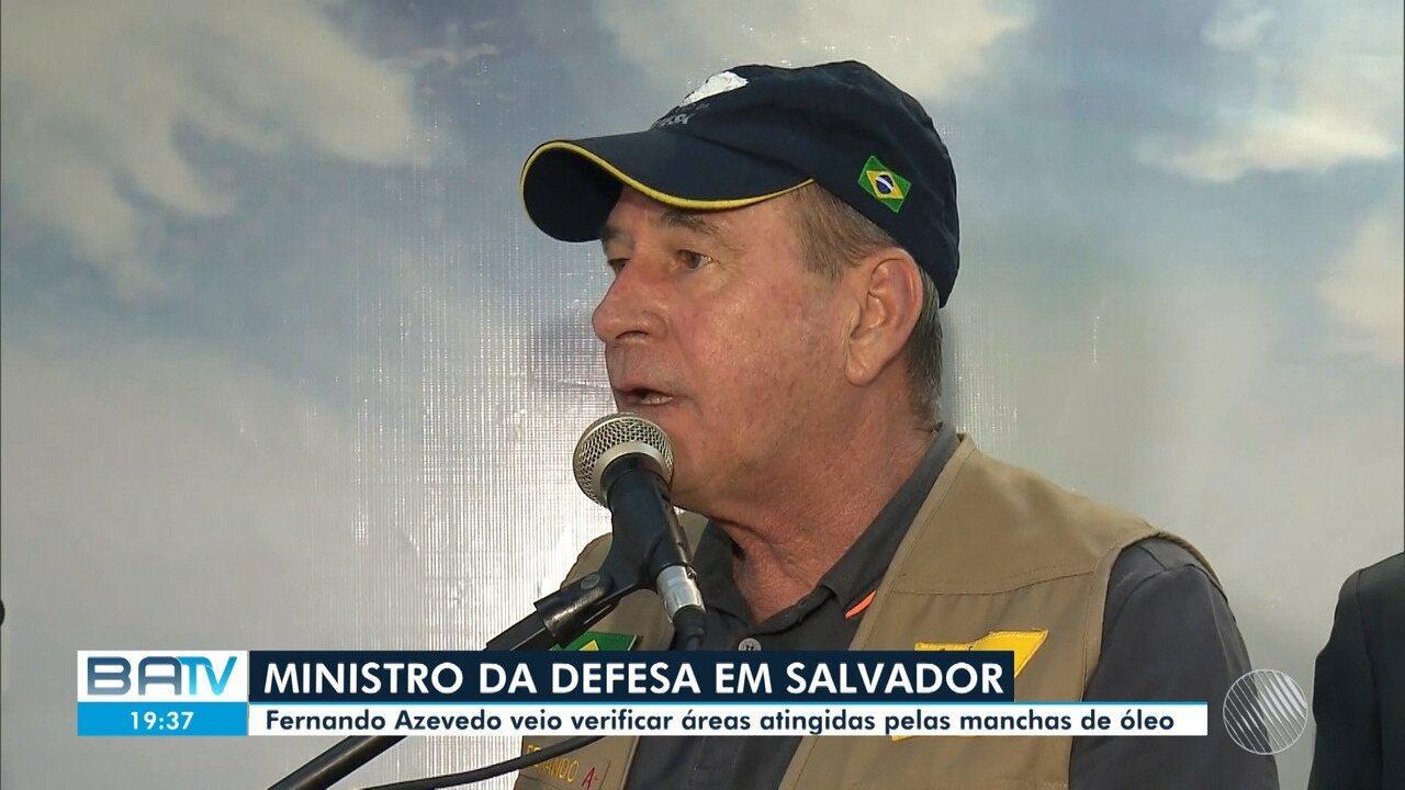 Ministro da Defesa vem à Salvador para visitar regiões atingidas por manchas de óleo
