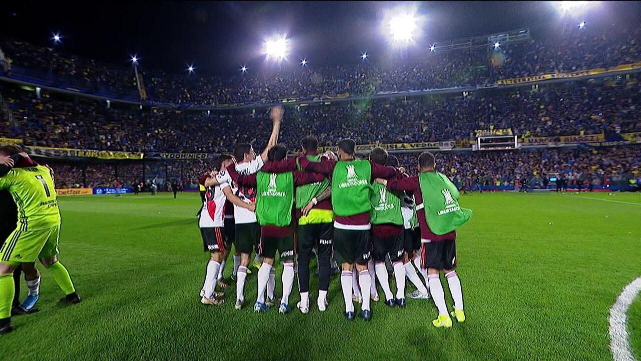 River Plate perde para Boca Juniors, mas se garante na final da Taça Libertadores