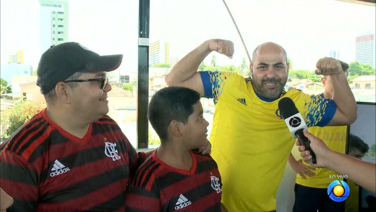Torcedores do Flamengo na Paraíba vivem ansiedade antes do jogo contra o Grêmio