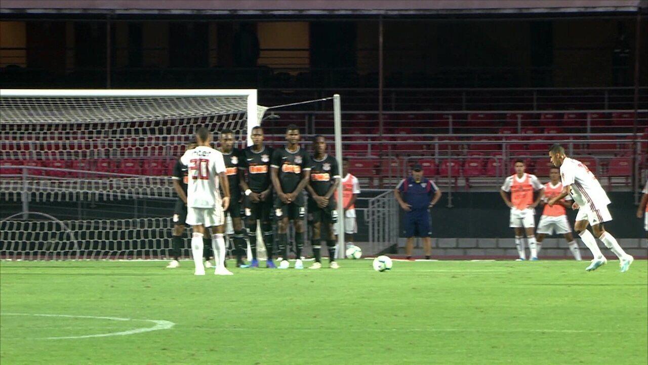 Melhores momentos de São Paulo 1x1 Corinthians nas quartas de final do Campeonato Brasileiro sub-20