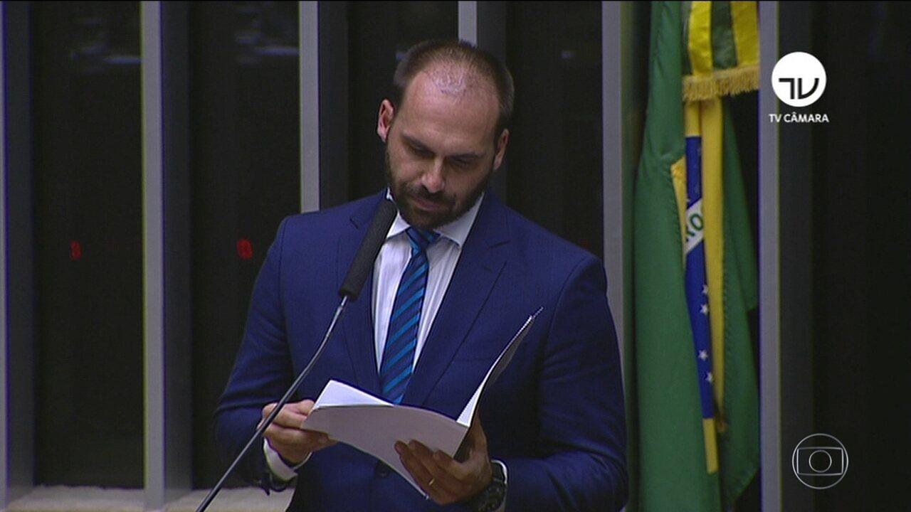 Deputado Eduardo Bolsonaro desiste de tentar ser embaixador