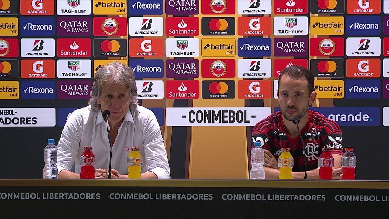 Jorge Jesus comenta goleada do Flamengo sobre o Grêmio