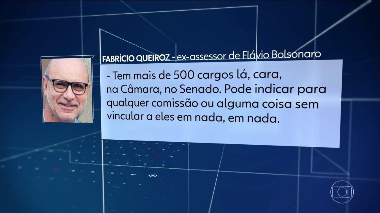 Áudio revela que Queiroz continuou dando orientações sobre nomeações políticas