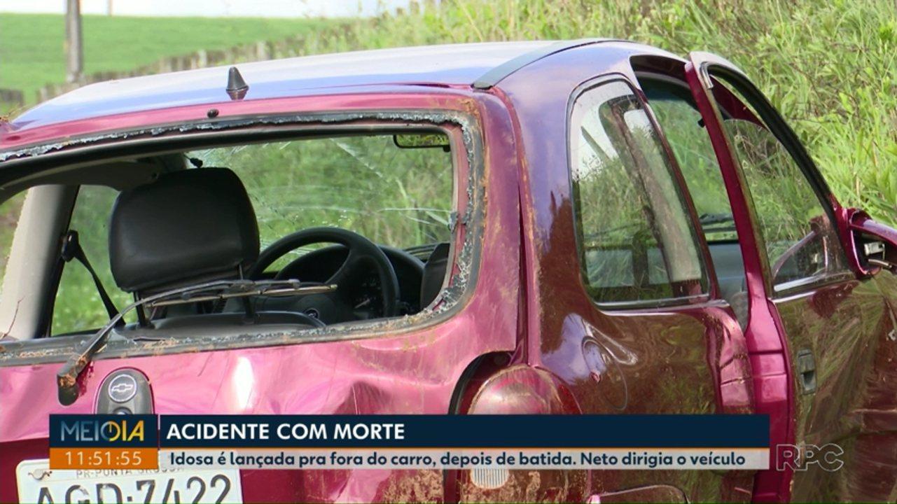 Idosa de 79 anos morreu em acidente na região do Guaragi na manhã desta sexta-feira (25)