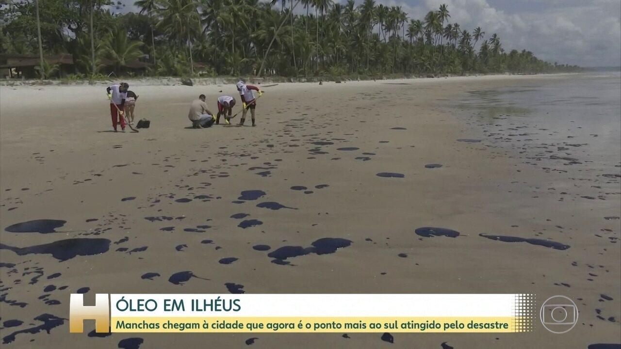 Resultado de imagem para Manchas de óleo chegam em Ilhéus, no sul da Bahia