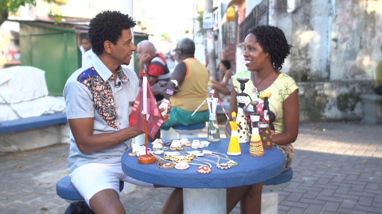 No 'Vumbora', Aldri conhece a artesã Elaine Nadja, que cria bonecas utilizando jornais
