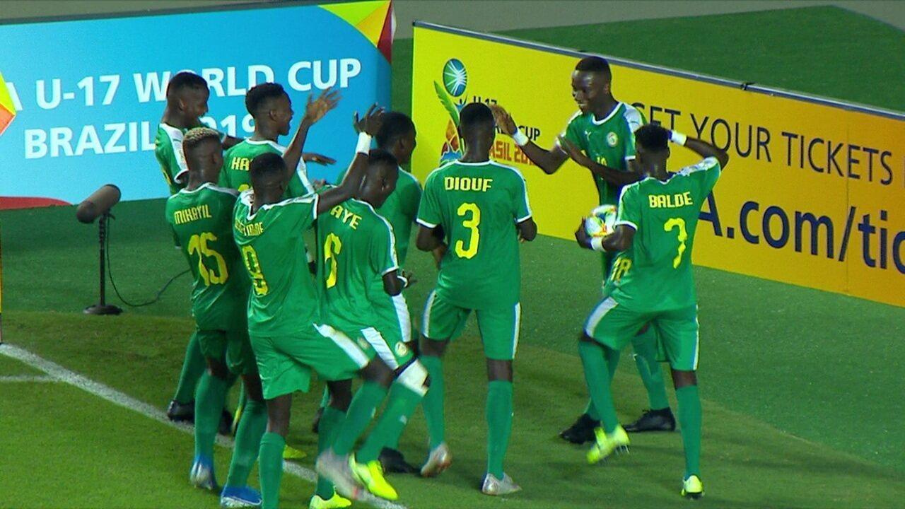 Os gols de Estados Unidos 1 x 4 Senegal pelo Mundial Sub-17