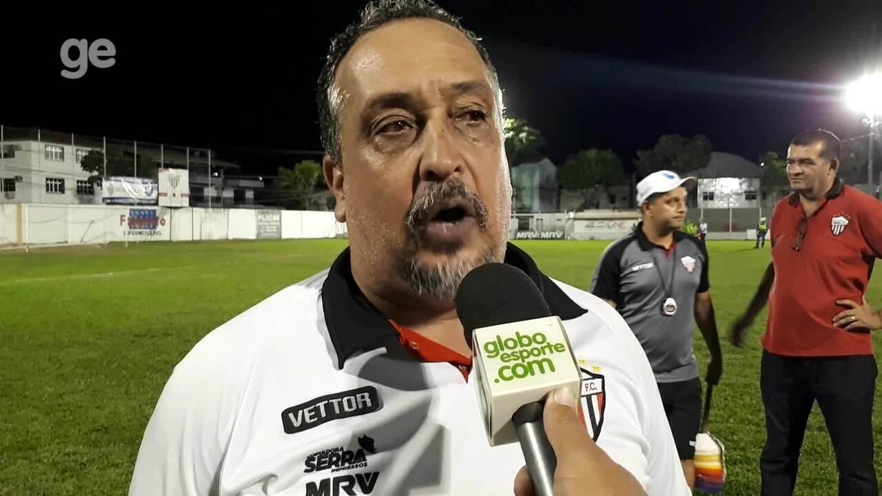 """Charles de Almeida pede """"cabeça fria"""" para o Serra passar pelo Real Noroeste na semifinal"""