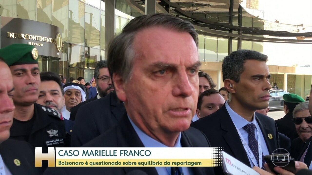 Bolsonaro é questionado sobre equilíbrio da reportagem