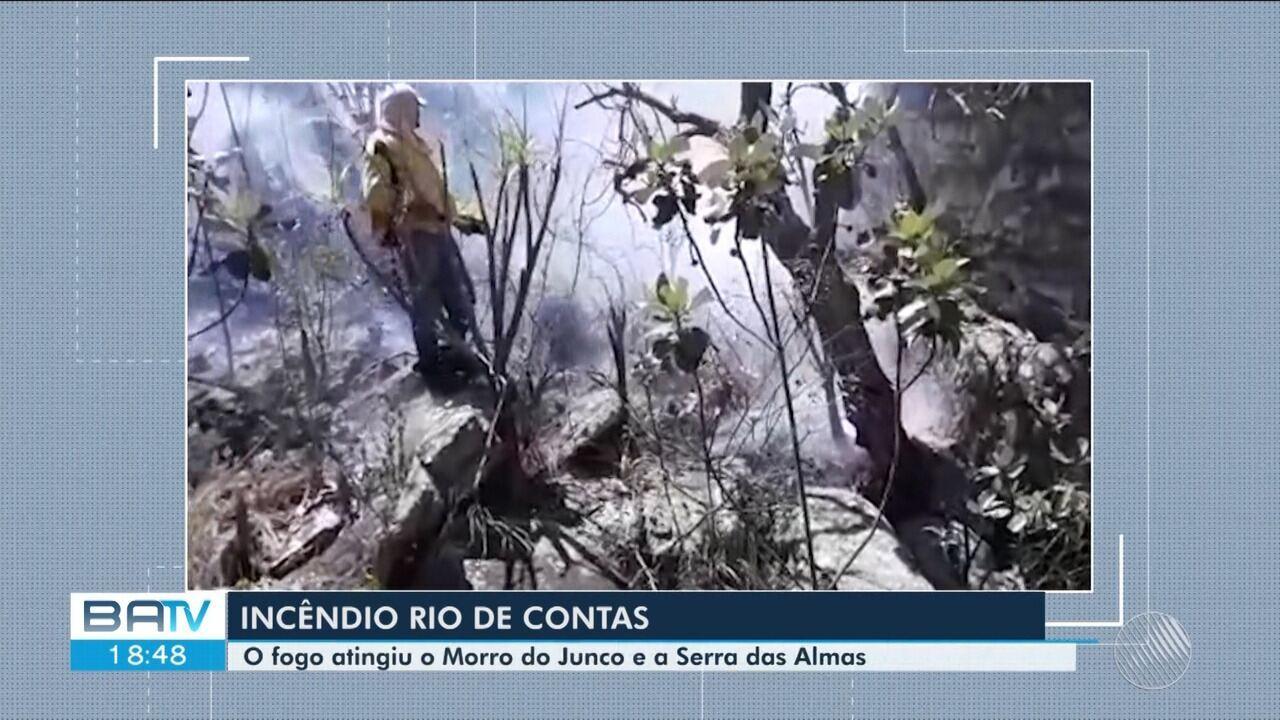 Incêndio atinge áreas de mata na cidade de Rio de Contas